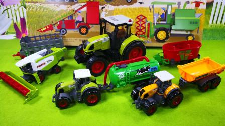 汽车立体机关书与农夫车玩具分享试玩