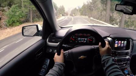 大即是美!雪弗兰全尺寸SUV Tahoe 优胜美地国家公园主视角纯享