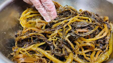 腌制雪里红咸菜有诀窍,手把手教你,一次腌30斤,放一年不会坏