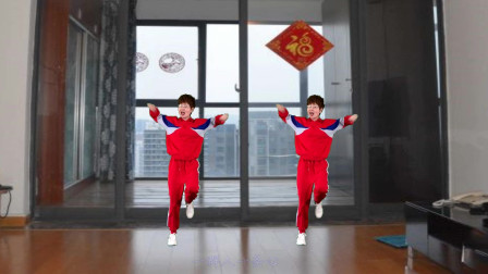 家中坚持锻炼《不放弃》,增强体质,健康中国!
