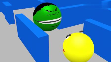 吃豆人和绿巨人吃豆人联合起来打败了蜘蛛侠吃豆人