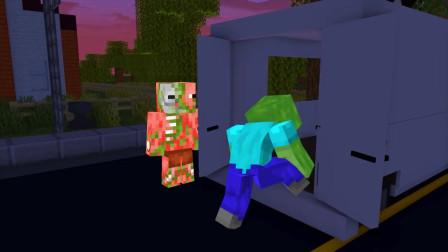 我的世界动画-怪物学院-冰淇淋人之屋挑战-iCraft