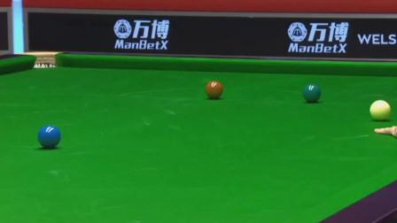 奧沙利文打到破百絕對邊緣99分,亂打一桿藍球!