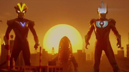 银河奥特曼S:宇宙人和银河还有维克特利一起大战怪兽,场面壮观