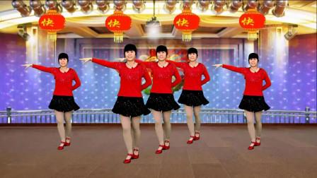 广场舞《吉祥如意过新年》歌曲欢快喜庆,简单又好看