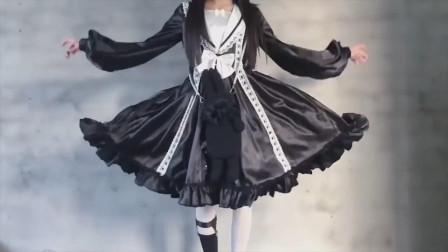 白丝lolita小姐姐,化身黑暗系女神,网友:有点心动!