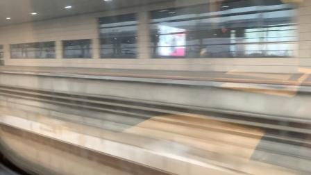 D3136金山北站高速通过(右侧车窗,附带近景),G1363进站