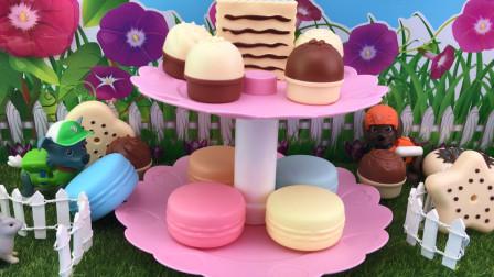 百变汪汪队立大功玩具 食玩过家家,狗狗巡逻队吃玩具蛋糕!