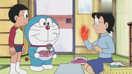 哆啦A梦:哆啦A梦用道具把妈妈的手变成了电熨斗,可以用手熨衣服了