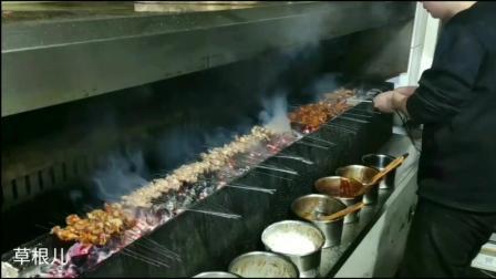 锦州烧烤全国闻名清真伊斯兰味道独特烤羊腿羊蹄一绝