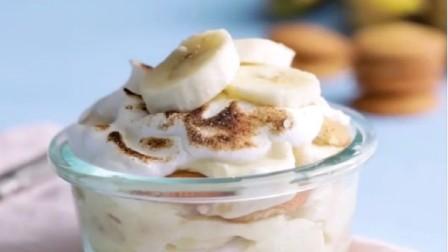 细腻的香蕉奶酪蛋糕做法,简单甜品