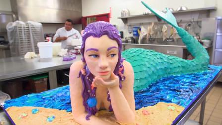 美人鱼翻糖蛋糕有多美?甜品师亲自操刀,背后故事让人心寒!