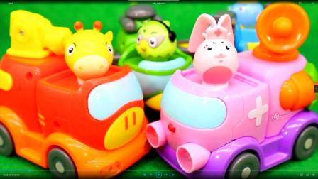 救援宝贝玩具救援队 和光头强一起玩趣味车车