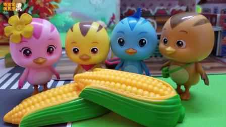 《萌鸡小队》小故事,乱丢玉米的欢欢,噢,浪费不是好孩子哦!