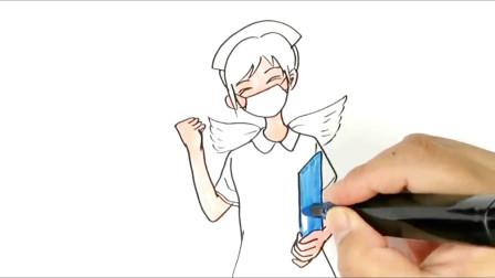 怎样画白衣天使护士?