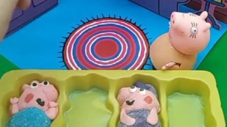 猪妈妈给乔治佩奇买的棉花糖,怎么就少了三个呢,原来是他们拿走了