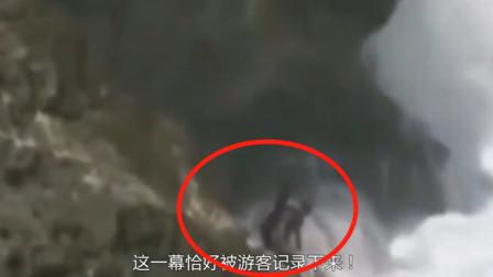 男子去海钓,要不是监控拍下这一幕,都不知道他是怎么消失的!