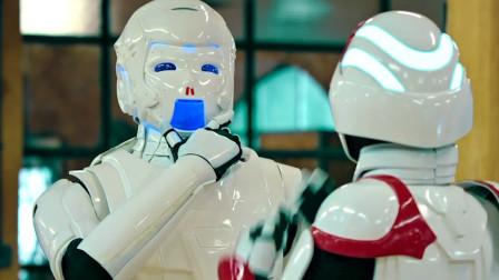 傻强见到美女机器人,没想到还会流鼻血,这是心动的感觉
