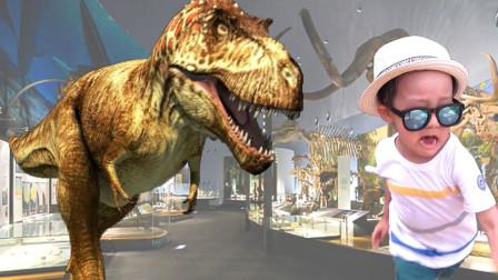 侏罗纪恐龙,萌娃恐龙博物馆主题公园游玩的一天!