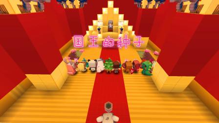迷你世界:国王的种子,有个国王想在王国内选一个孩子继承王位