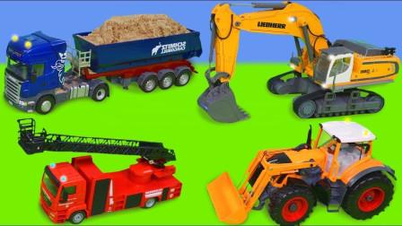 最新挖掘机视频表演10076大卡车运输挖土机+挖机工作+工程车