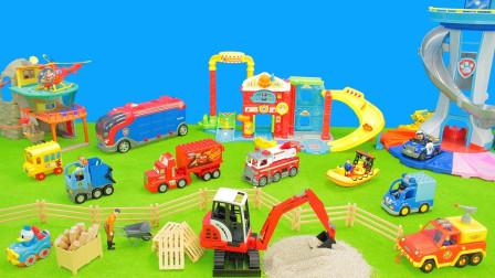 最新挖掘机视频表演10077大卡车运输挖土机+挖机工作+工程车