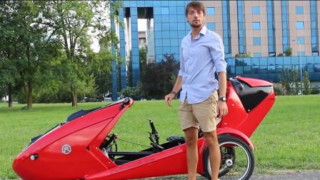 大学生打造敞篷电动车,堵车路段也能穿梭自如,就是有点贵!