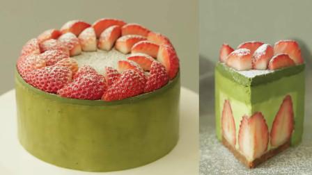 星巴克美味的抹茶蛋糕是这样做的!超简单,学会都不用买着吃了