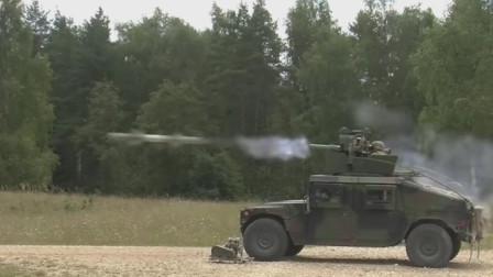 美军悍马战车上陶氏重型反坦克导弹,光纤制导随时纠正目标打击精度高