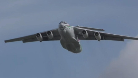 伊尔-76滑行起飞噪音大冒黑烟,细长外形的小涵道比发动机的缺陷