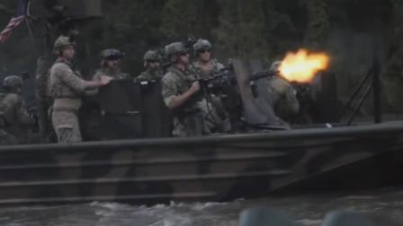 美军三角洲特种部队装备M-134加特林机枪,每分钟6000发弹药高速射击