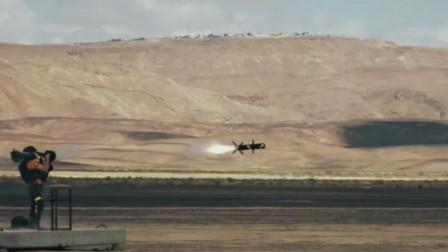 以色列长钉-SR反坦克导弹弹出发射筒后空中点火,金属射流击穿多层目标