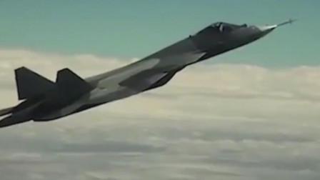 这就是落叶飘侵略性进攻战术机动,苏-57隐形战机完美演示落叶飘