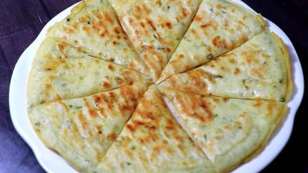 这才是葱油饼最好吃做法,金黄酥脆,做法简单,学会不用买早餐了