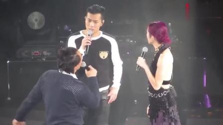 陈奕迅演唱会上唱《杨千嬅》,是神仙现场了,还有梁汉文也来了