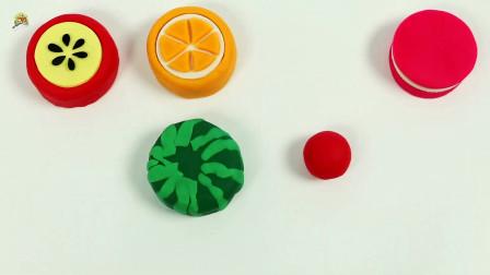 制作可爱的迷你水果蛋糕,面团甜品工艺品玩具