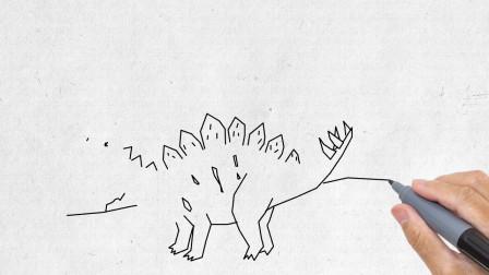 简单有趣的恐龙简笔画来