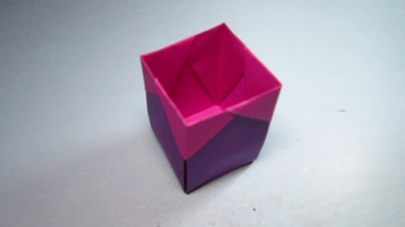 手工折纸,简单的折一个趣味收纳盒,好看又实用