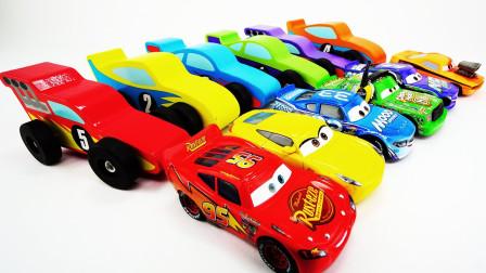 好神奇!汽车总动员麦昆进入麦大叔的车厢后大变样了?趣味玩具故事