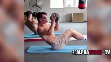 20个强力腹肌训练在家有时间的话建议练练吧