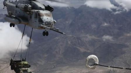 美军现役最大直升机CH-53E进行空中加油,获得更大的航程