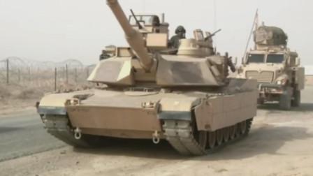 美军M1A2主战坦克120毫米滑膛炮发射贫铀穿甲弹威力强大