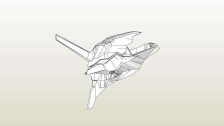 风之伊:用eva做个eva初号机头盔,初步定型