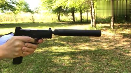 安装消音器的FN509手枪,场实弹射击测试后坐力真不小,真是开眼啦