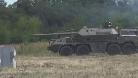 轮式火炮先驱达纳152mm轮式榴弹炮,拥有一个庞大的炮塔