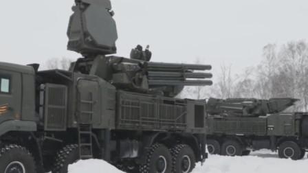 俄罗斯野战防空利器铠甲-S1弹炮合一防空系统