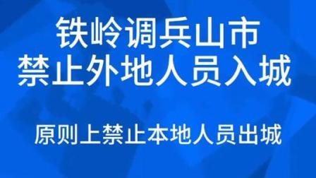 铁岭调兵山市:外地人员禁止入城 原则上禁止本地人员出城#辽宁 #战胜疫情dou行动