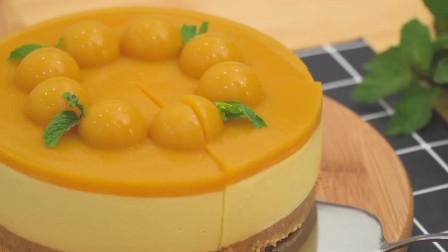 无烤箱芒果芝士蛋糕,就是这么简单