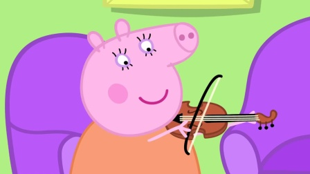 小猪佩奇:乔治非常有音乐天赋,大家吹不了的乐器他可以吹响