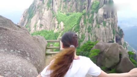 外国人游中国:印度美女游安徽黄山,大爱黄山美景,还有地方美食